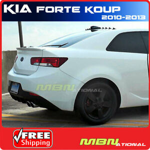 For 10 13 Kia Forte Koup Rear Trunk Lip Spoiler Painted Abs Ud Clear White