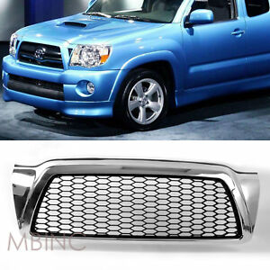 05 11 Toyota Tacoma Front Bumper Center Grille Polished Chrome Mesh W Gasket