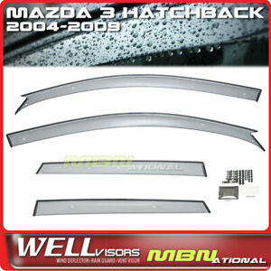 Wellvisors Rain Sun Wind Deflectors Hb Mazda 3 04 09 Window Visors