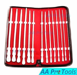 Aa Pro Dittle Urethral Sounds Kit Set Of 14 Pieces Stainless Steel New