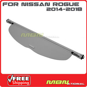 For 14 18 Nissan Rogue Rear Trunk Retractable Grey Cargo Cover Luggage Shade