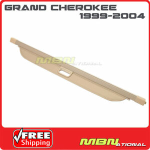 For 99 04 Jeep Grand Cherokee Trunk Retractable Tan Cargo Cover Luggage Shade