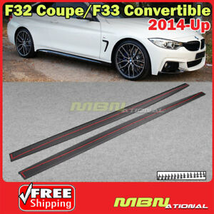 Mp Style Side Skirts Trim Blades 2014 2017 Bmw F32 F33 Sport Coupe Convertible
