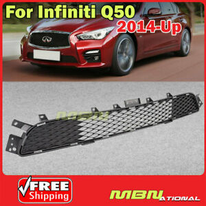 Lower Front Bumper Radiator Grille For Infiniti Q50 2014 2017 Sport Models Only