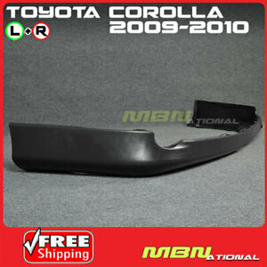 09 10 Toyota Corolla S Style Rear L R Lower Chin Lip Spoiler Body Kit Black