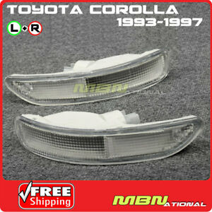 93 97 Toyota Corolla E100 Front Bumper Signal Light Lamp Clear Lens