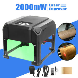 2000mw Laser Engraving Marking Machine Engraver Desktop Logo Printer Range 8 8cm