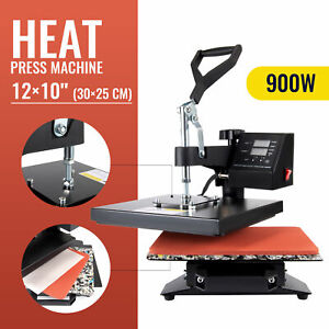 5in1 Digital Transfer Sublimation Heat Press Machine T shirt Mug Hat Plate 12x15