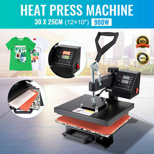 Digital Swing Away Transfer Sublimation Heat Press Machine For T shirt 12x 10