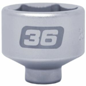Steel Alloy Low Profile Oil Filter Socket 36 Mm Extra Large Corner 3 8 Drive