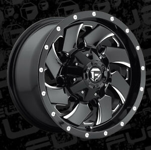 5 17 D574 Fuel Cleaver Black Wheels Jeep Wrangler Jk 35 Mt Tires Package