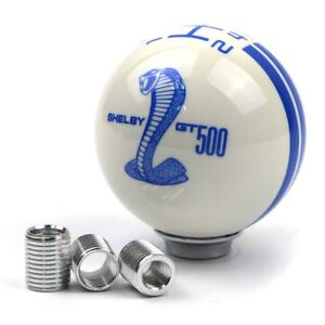 For Ford Mustang Car Gear Shift Knob 5 Speed Blue Cobra Logo Manual Handle Ball