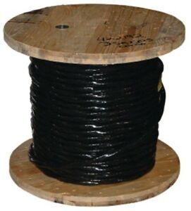 Southwire 500 Ft 4 0 Black Stranded Al Thhn Cable