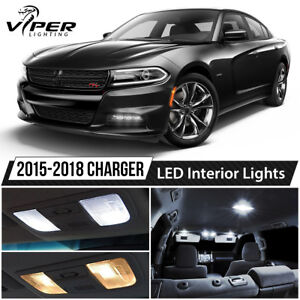 2015 2018 Dodge Charger White Led Interior Lights Kit Package