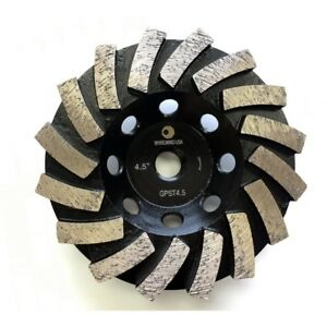 New 4 5 In Segmented Diamond Grinding Turbo Cup Wheel For Concrete And Mortar