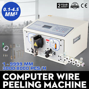 Computer Wire Peeling Stripping Cutting Machine 0 1 4 5mm Electrical 10000mm