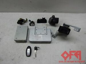 2006 Infiniti M35 Ignition Key Lock Cylinder Ecu Computer Bcm Set Mec35960