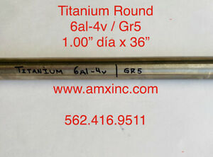 Titanium Round Bar 6al 4v 1 00 Dia X 36 Long