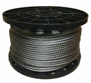 1 2 Stainless Steel Wire Rope Cable 6x19 Iwrc Type 304 50 Feet