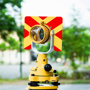 Single Prism Total Station Stop Sign Single Prism base connector With Soft Bag