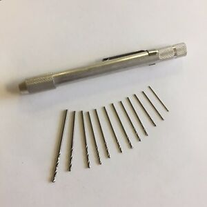 Standard Torch Tip Drill Set With Pocket Clip And 12 Bits
