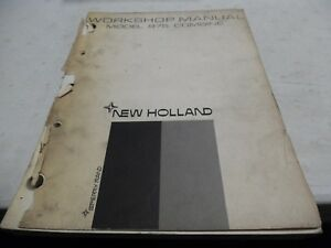New Holland 975 Combine Workshop Manual