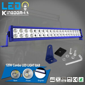 24 Inch 120w Led Light Bar Wiring Kit Spot Flood Combo Work Ute Truck Suv Atv