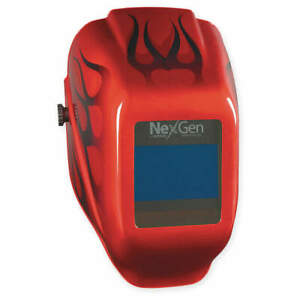 Jackson Safety Welding Helmet shade 9 To 13 red 46149 Red