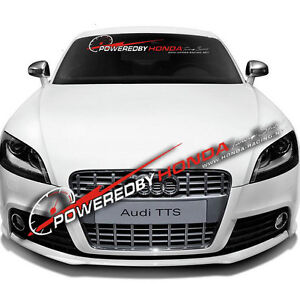 Car Front Rear Windshield Window Banner Reflective Decal Sticker For Honda Power