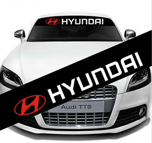 Car Rear Front Windshield Reflective Vinyl Decal Sticker Adhesive For Hyundai