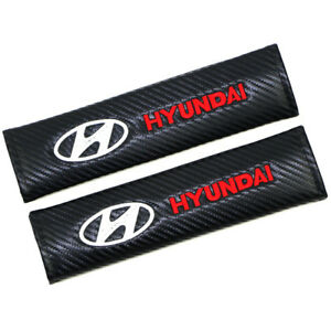 Sports Carbon Fiber Car Seat Belt Covers Shoulder Pads Cushion For Hyundai