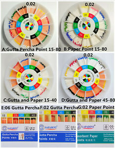 Dental Gutta Percha Point Absorbent Paper Points 15 80 Endodontic Files Therapy
