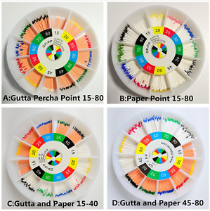 Dental Gutta Percha Absorbent Paper Points 15 25 30 35 To 80 Mixed Endodontic