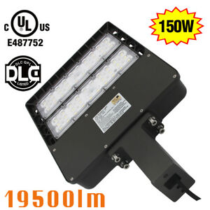 150w Led Shoebox Square Pole Street Light Replace 400w Parking Lot Light 5700k