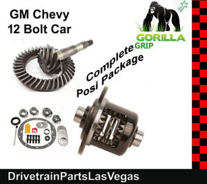 Gm 8 875 Chevy 12 Bolt Car 3 73 Ring And Pinion Posi Gear Kit Pkg Gorilla Grip