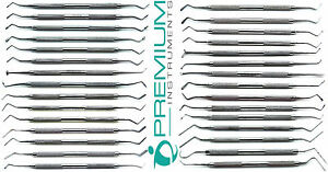 Dental Composite Plastic Amalgam Filling Restorative Instruments Set Of 30 Pcs