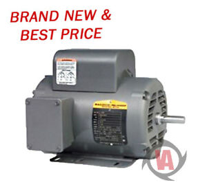 L1430t 5hp Single Phase Baldor Electric Compressor Motor 184t new