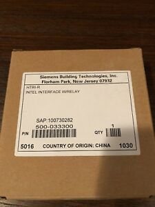 New Siemens Htri r Intel Interface Relay Module Fire Alarm 500 033300