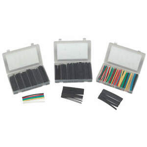 Shrink Tubing Kit r y g b w c b 126 Pc Kp hstt2 Black Blue Clear Green Red