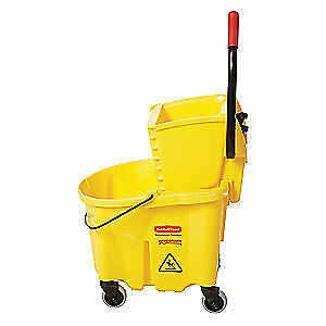 Rubbermaid Mop Bucket And Wringer yellow Fg748000yel Yellow