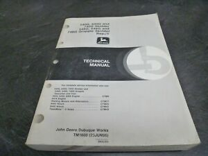 John Deere 540g 640g 740g Skidder 548g 648g Grapple Service Repair Manual Tm1600