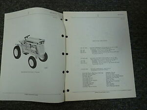 International Harvester Ih Model 72 Cub Cadet Tractor Parts Catalog Manual Book