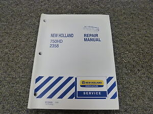 New Holland 750hd 2358 Discbine Disc Mowing Header Shop Service Repair Manual