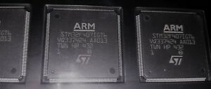 Set Of 4pics Arm Cortex m4 Stm32f4 Microcontroller In Case 176 lqfp 24x24