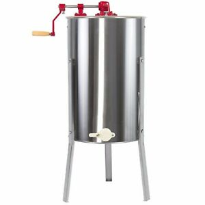 Lg 2 Frame Stainless Steel Honey Extractor Beekeeping Equipment Bee Basket Farm