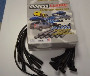 Moroso 8mm Spark Plug Wires Hitemp Suppression Hei Usa Chevy Bb Over Covers