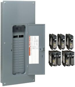 Square D Main Circuit Breaker Panel Box 200 Amp 30 space 60 circuit Indoor Use