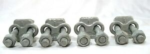 1 Inch Wire Rope Large Galvanized Cable Clip Threaded Clamps Set Of 4 New