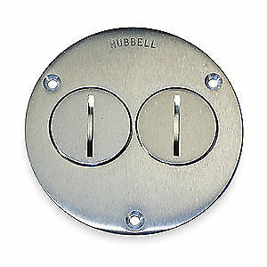 Hubbell Wiring Device kellems Aluminum Floor Box Cover round 2 gang Sa3725