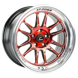 Cosmis Racing Xt206r Red With Machined Lip 18x9 5 10 5x114 3